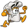 Cartoon Chef Hat Character Running clipart