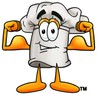 Cartoon Chef Hat Character Flexing Muscles clipart