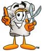 Cartoon Chef Hat Character Cutting Costs clipart