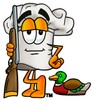 Cartoon Chef Hat Character Hunting clipart