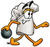 Cartoon Chef Hat Character Bowling clipart