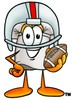 Cartoon Chef Hat Character Wearing Football Gear clipart