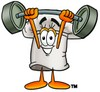 Cartoon Chef Hat Character Lifting Weights clipart