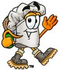 Cartoon Chef Hat Character Hiking clipart