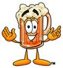 Cartoon Beer Mug Character clipart