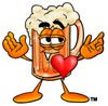 Cartoon Beer Mug Character with a Heart clipart