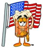 Cartoon Beer Mug Character During Pledge of Allegiance clipart