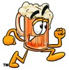 Cartoon Beer Mug Character Running clipart