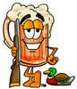 Cartoon Beer Mug Character Hunting clipart