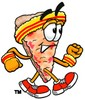 Cartoon Pizza Character Jogging clipart