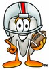 Cartoon Tooth Character Playing Football clipart