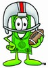 Cartoon Money Character Posing with a Football clipart