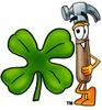 A hammer and clover clipart