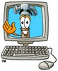 A hammer waving from a computer clipart