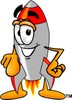 A rocket pointing clipart