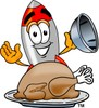 A rocket with a roasted turkey clipart