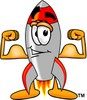 A rocket with muscles clipart