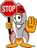 A rocket holding a traffic sign clipart