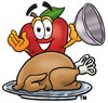 An apple and a roasted turkey clipart