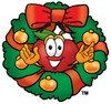 An apple in a wreath clipart