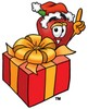 An apple and a present clipart
