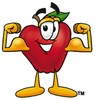 An apple showing its biceps clipart
