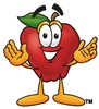 An apple smiling clipart