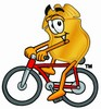Clipart Illustration of a Badge Cycling