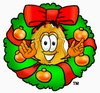A badge in a christmas wreath clipart