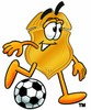 A badge with a soccer ball clipart