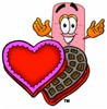 A bandaid and chocolate candy clipart