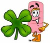 A bandaid and a clover clipart