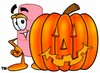 A bandaid and jack-o-lantern clipart