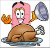 A bandaid and turkey clipart