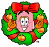A bandaid inside a wreath clipart