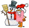 A bandaid and snowman clipart