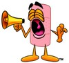 A bandaid and a megaphone clipart