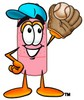 A bandaid catching a baseball clipart
