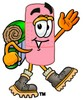 A bandaid wearing hiking boots clipart