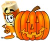 A barrel and halloween pumpkin clipart
