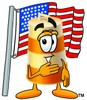A bareel and the US flag clipart