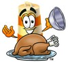 Clipart Illustration of a Barrel Lifting the Lid of a Turkey