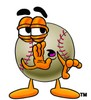 Clipart Illustration of a Whispering Baseball