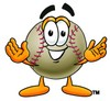 Clipart Illustration of a Baseball