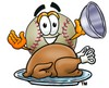 A baseball and roast turkey clipart