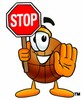 A basketball and stop sign clipart