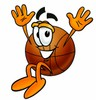 A jumping basketball clipart