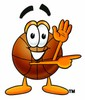 A basketball pointing clipart