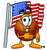 A basketball and american flag clipart