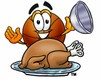 A roast turkey and basketball clipart